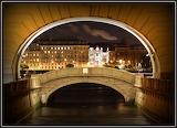 Saint-Petersburg. The Hermitage bridge