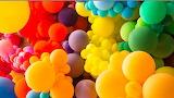 ^ Rainbow balloons