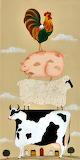 Debbie Criswell ~ Folk Art primitive sheep farm Autumn