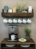 coffee machine and cups