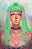 Long Green Hair