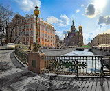 Cityscapes russia bridges Saint Petersburg