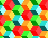 Colours-colorful-geometric-cubes