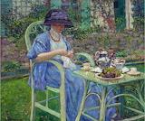 Breakfast in the Garden~ Frederick Carl Frieseke