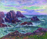Evening at Ouessant by Henri Moret