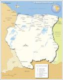 Suriname Kaart
