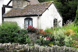 A cottage garden, Eardisland, Herefordshire, England