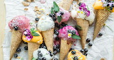 ^ Homemade Rainbow Ice Cream - Gray Gloria