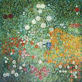 Flower-Garden-Blumengarten-Oil-Painting-Reproduction-Canvas-by-G