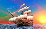 Colorful ship