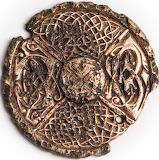 Gilt Bronze Disc Brooch, 8th Century AD