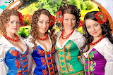 girls in traditional costumes