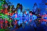 Christmas lights in VanDusen Botanical Garden. Vancouver. Britis