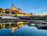 Blue hour Biarritz France