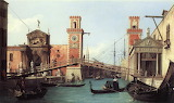 View of the entrance to the Arsenal by Canaletto, 1732 Venice