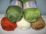 Earthy colors of yarn