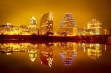 glowing skyline