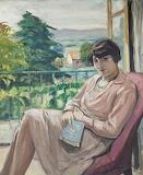 Albert André, Jeune fille assise à la fenêtre devant le jardin