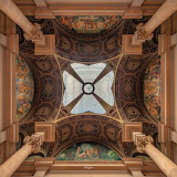 Ceiling in the Central Post Office, Barcelona (ph Peter Rajkai)