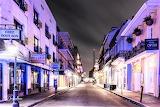 Restaurants along road French Quarter New Orleans