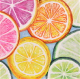#Seven Wall Arts Colorful Tropical Fruit Art