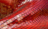 Abstract Red Mosaic Tile by ricardo-gomez-angel