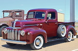 Ford pickup maroon