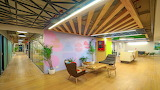 living hotel interior workspace studio