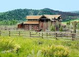 Faded Barn & Horses
