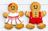cute gingerbread couple
