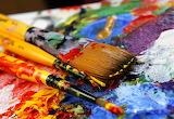 art paint palette paintbrushes