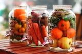 Vegetales en frascos