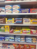 shelf with different snacks