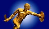 Greek warrior statue