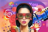 girl, social network symbols