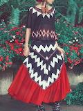 Aporia. AS Multicolor Boho Color-block Maxi Skirt