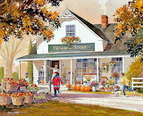 Autumn at General Store, Art by D. R. Laird