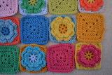 ^ Flower Crochet Granny Square Rosehip