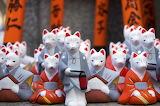 Shinto Fox Statues, Inari Shrine, Kyoto