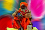 Indian elderly man
