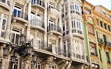 Hiszpania Oviedo - fasada budynku