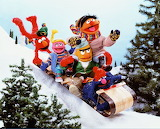 Bert & Ernie and Friends On The Sled, Snow