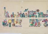 Edouardo Paolozzi, study for mural, 1982
