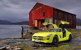 car-Mercedes-benz-house-yellow-red