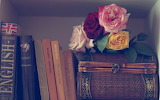 ☺ Roses and books...