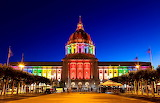 Colorful Lighted California State Capital Sacramento USA