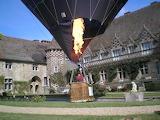 Hot air balloon at Chateau de Hatttonchatel - France