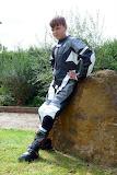 Boy motorcyclist