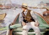Look Ahead, Bergen Harbour - Christian Krohg 1884