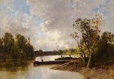 A Bavarian Lake by Eugene Ciceri